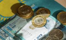 Деньги, тенге, купюры монеты