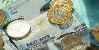 Деньги, тенге монеты, купюры