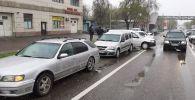 Шесть машин столкнулись на пр. Раимбека