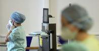 Медсестры в больнице с коронавирусом