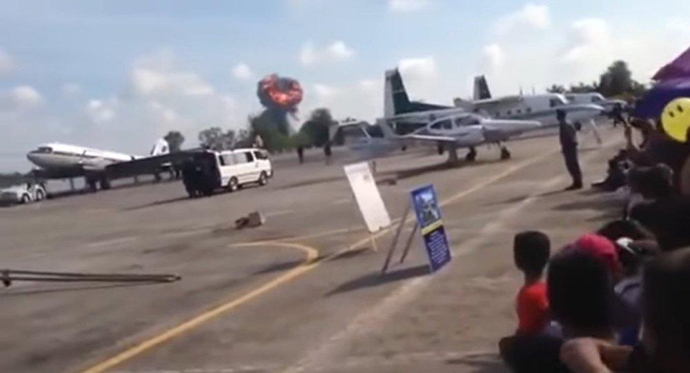 Истребитель ВВС Таиланда упал впроцессе авиашоу