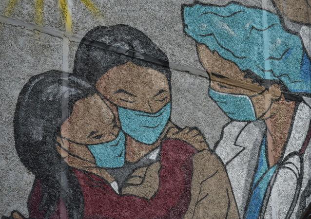 Мурал, посвященный врачам, на улице Шарипова 118