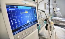 Модульная инфекционная больница, построенная в условиях ЧП в связи с пандемией коронавируса в Нур-Султане