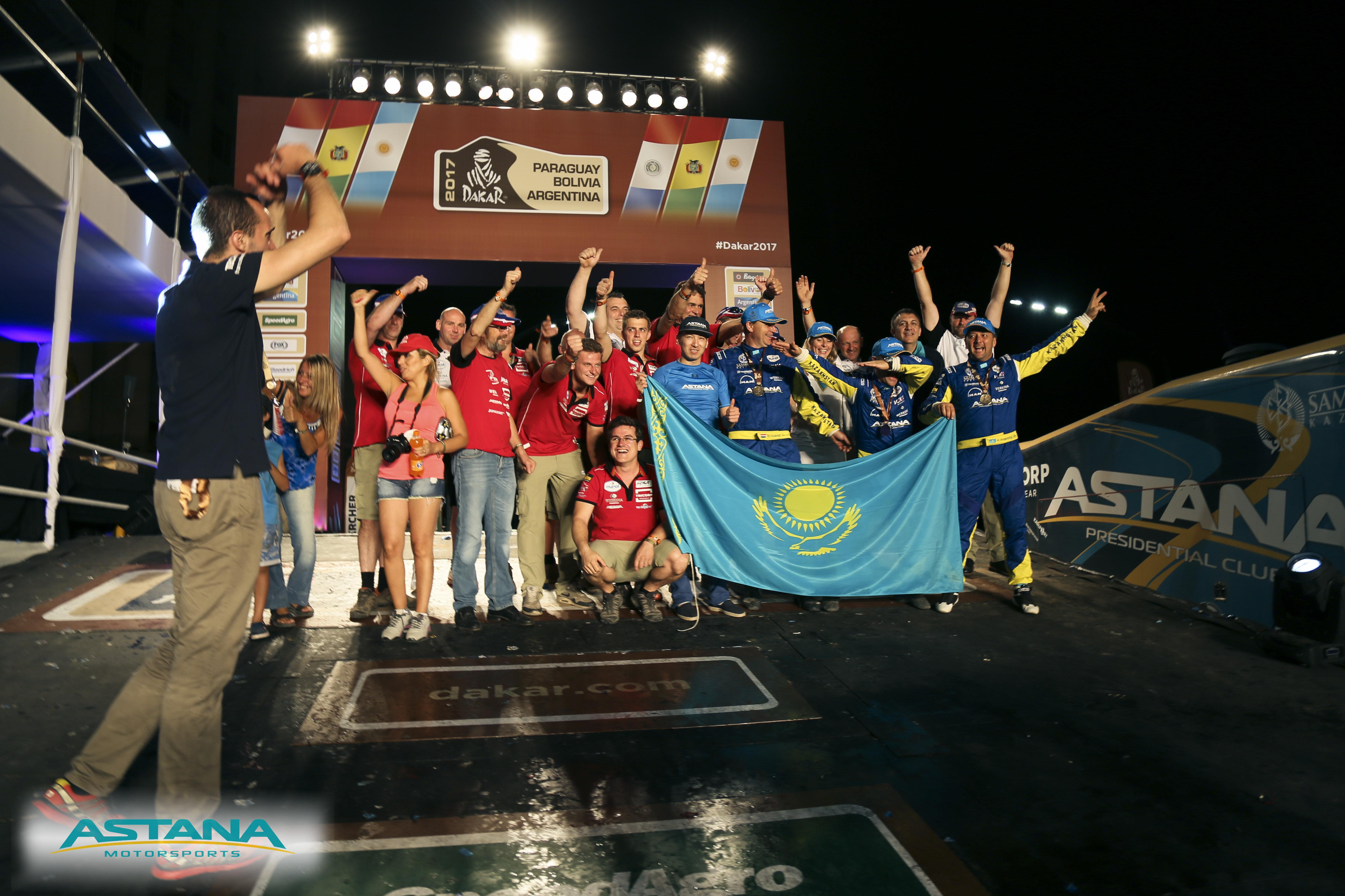 Легковой экипаж Astana Motorsports стал бронзовым призером Дакара-2017
