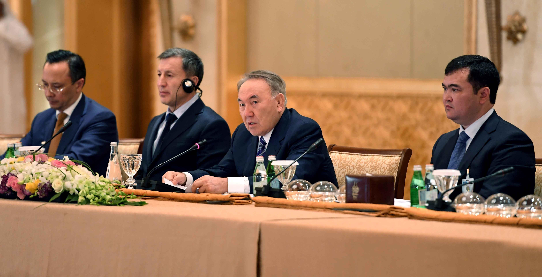 Встреча Нурсултана Назарбаева с представителями деловых кругов ООАЭ