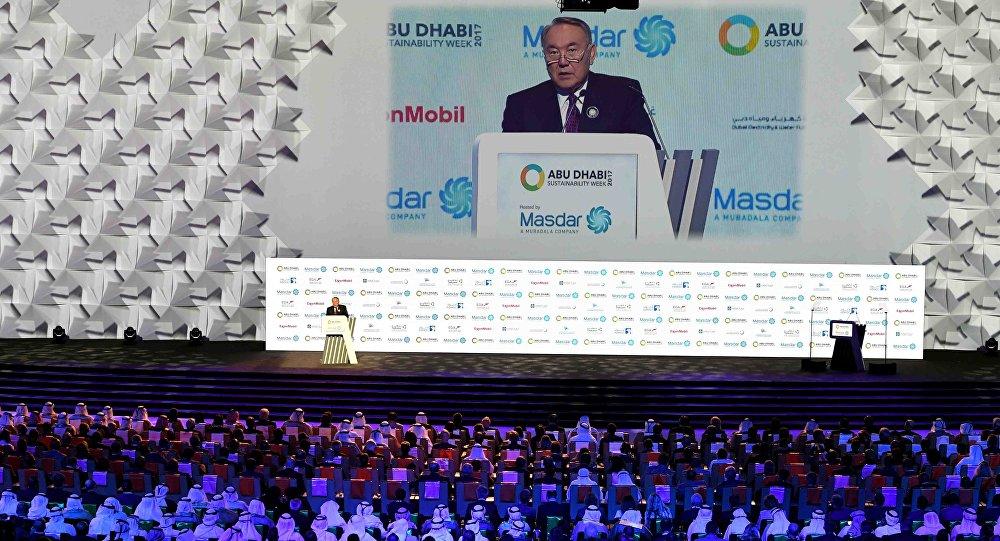 Нурсултан Назарбаев на Х Всемирном саммите Энергия будущего в Абу-Даби