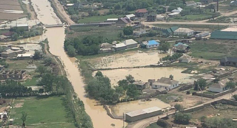 Подтопления в Мактааральском районе Туркестанской области
