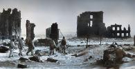 Неміс-фашист басқыншыларынан азат етілгеннен кейінгі Сталинград қаласының орталығы