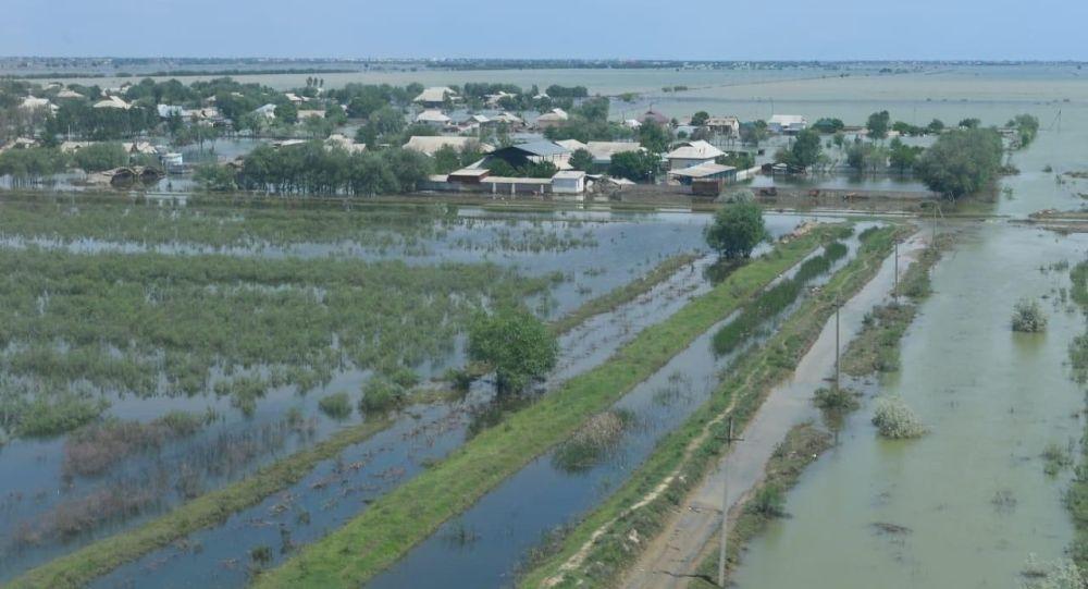 Наводнение в Мактааральском районе