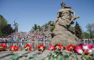 Мемориальный комплекс Мамаев Курган в Волгограде, архивное фото