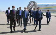 Касым-Жомарт Токаев, Бакытжан Сагинтаев в аэропорту Алматы