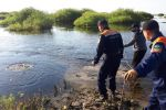Спасатели на реке Нуре