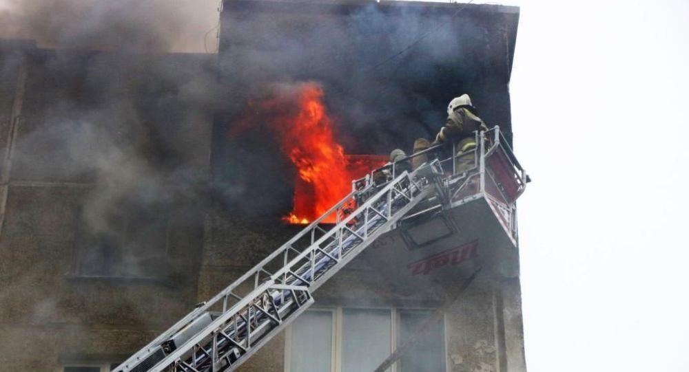 Пожар в жилом доме в Петропавловске