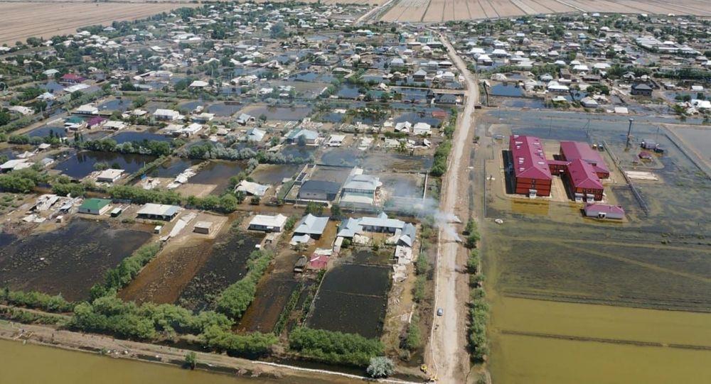 Наводнение в Мактааральском районе Туркестанской области