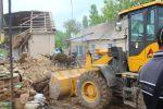 Разрушенные из-за проливных дождей дома в Туркестанской области