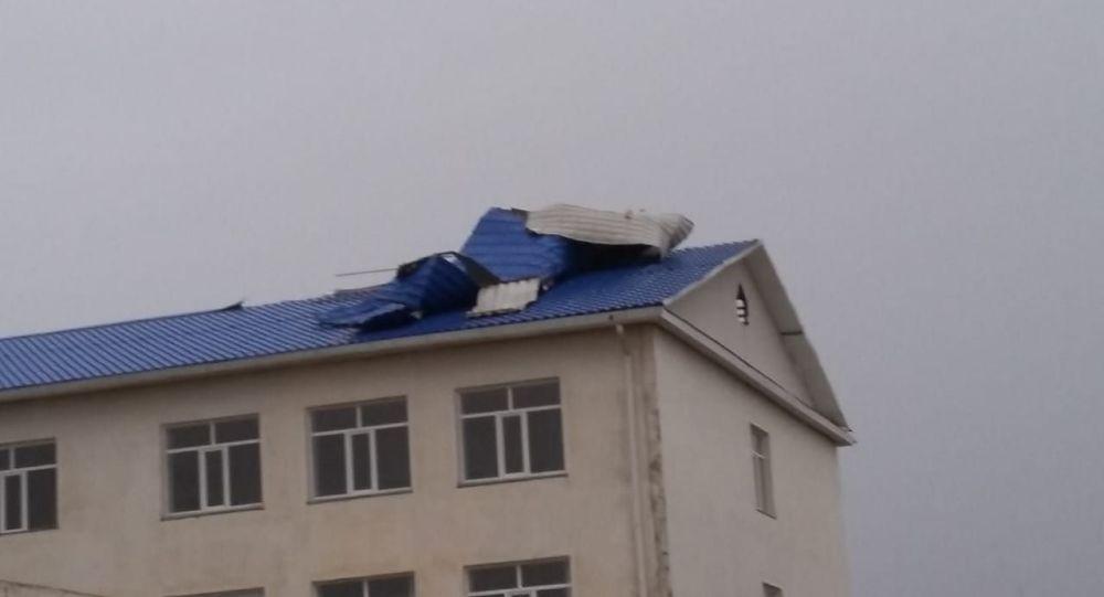 Последствия урагана в Атырауской области