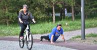 На тренировки в парк вышли астанчане всех возрастов