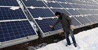 Открытие новой солнечной электростанции в Хакасии