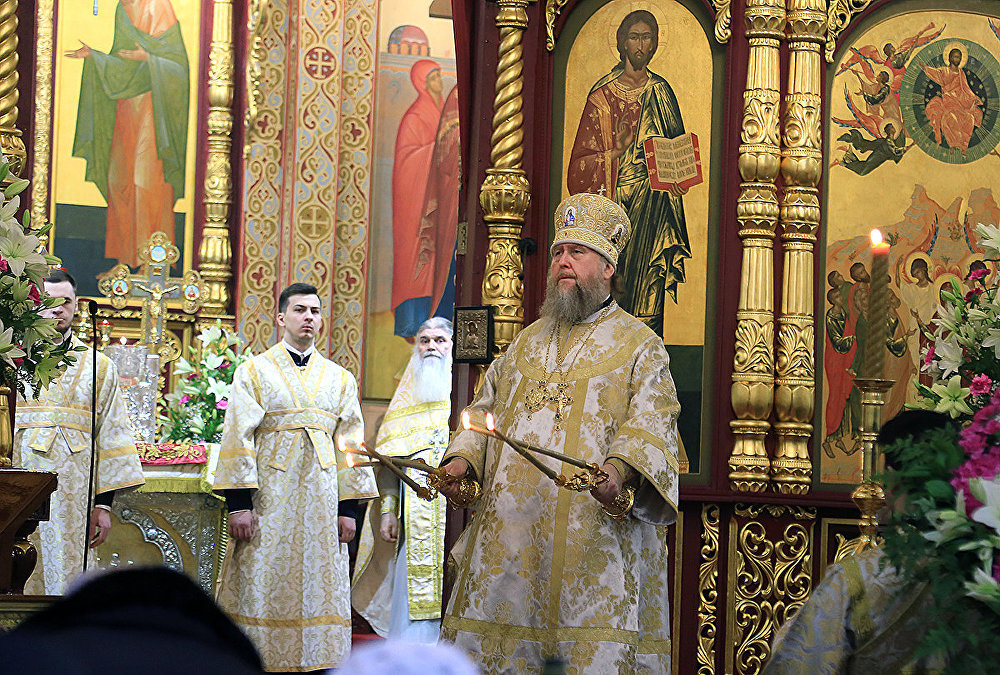 Празднование Крещения в Алматы