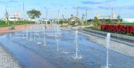 Сухой фонтан в одном из парков Туркестана