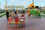 Детская площадка в реконструированном парке Туркестана