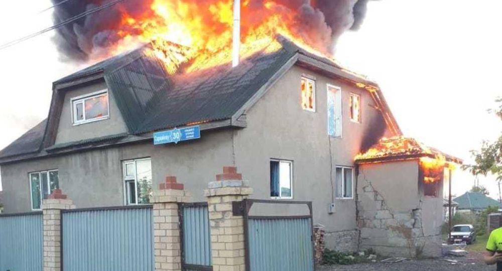 Пожар по улице Саржайлау