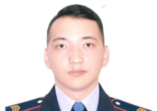 Сержант полиции Абдыканов Дастан Маратжанулы