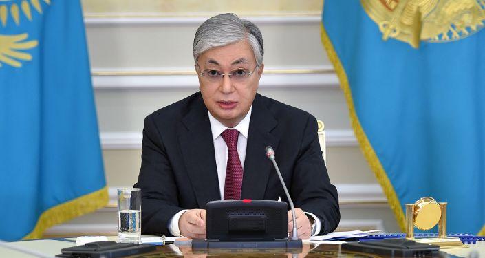 Президент Казахстана Касым-Жомарт Токаев на заседании Нацсовета общественного доверия