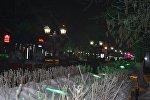 Архивное фото фонарей на алее в Петропавловске