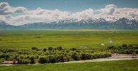 Вид на горы под Алматы