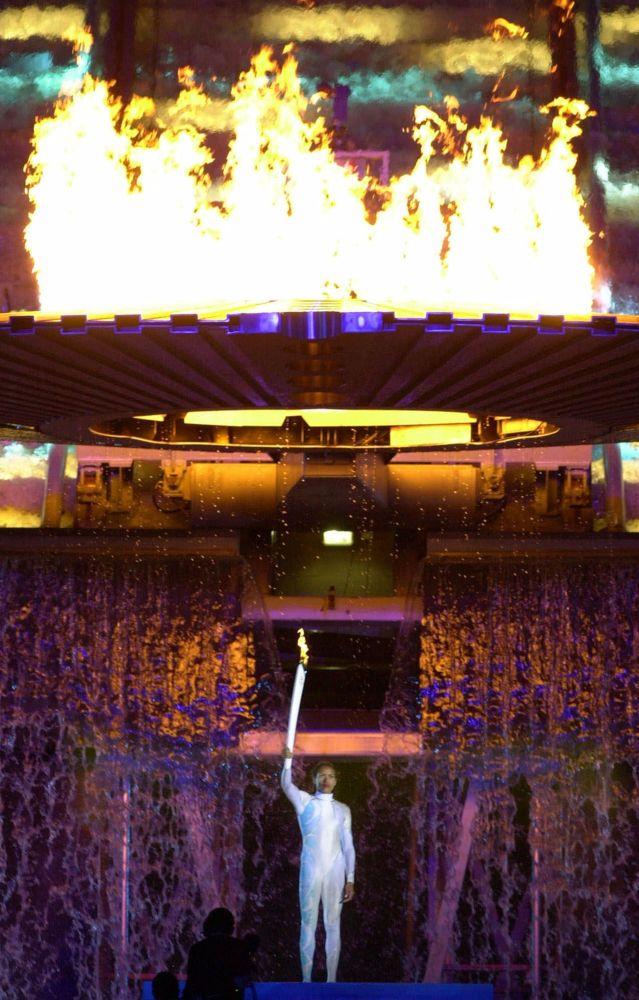 Зажжение огня Олимпиады 2000 года Сиднее