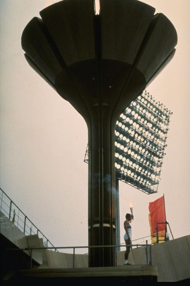 Зажжение Олимпийского огня в Москве, 1980 год, архивное фото