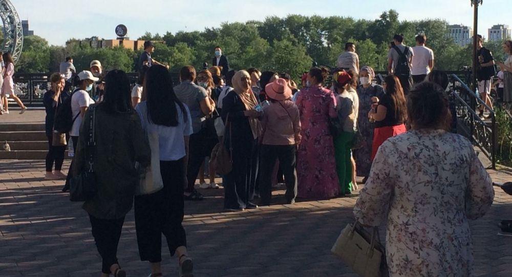 Митинг многодетных матерей в столице