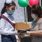 В Алматы для выпускников прозвучал последний звонок