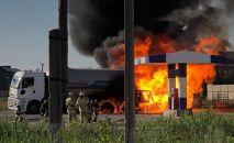 Пожар на АЗС в Атырау