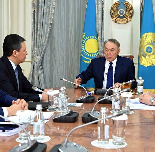 Нұрсұлтан Назарбаевтың Тимур Құлыбаев және Абылай Мырзахметовпен кездесуі