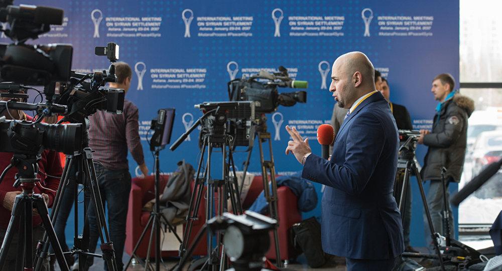 Пресс-центр для журналистов, сирийские переговоры в Астане
