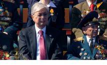 Президент Казахстана Касым-Жомарт Токаев на трибуне Красной площади