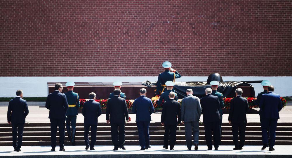 Церемония возложения цветов к Могиле Неизвестного солдата 2020 год