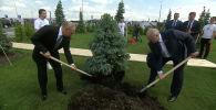 Путин с Лукашенко открыли мемориал Советскому солдату подо Ржевом - видео