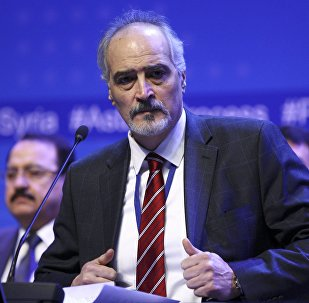 Глава делегации правительства Сирии, постпред Сирии при ООН Башар Джаафари