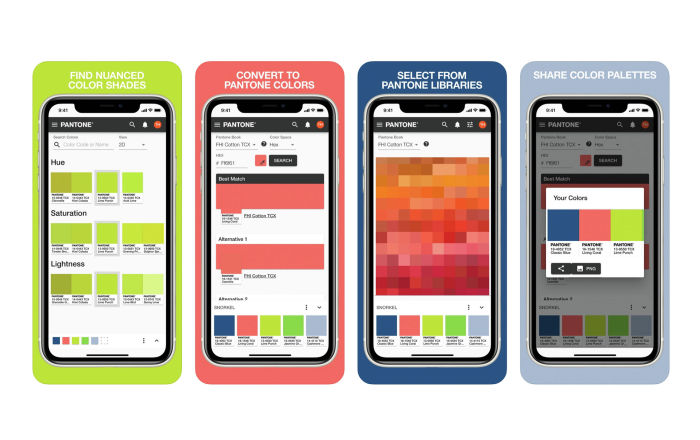 Pantone разработали мобильное приложение для работы с цветовой гаммой