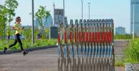 Астаналықтар, ботаникалық бақ, көрнекі фото