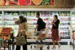 Супермаркеттегі сатып алушылар