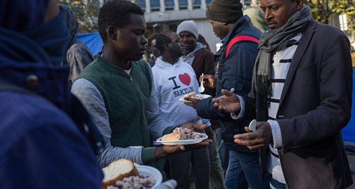 Архивное фото беженцев