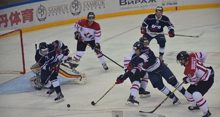 Матч США-Канада на Универсиаде в Алматы
