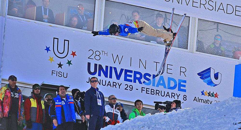 Соревнования по фристайл-акробатике на Универсиаде-2017 в Алматы