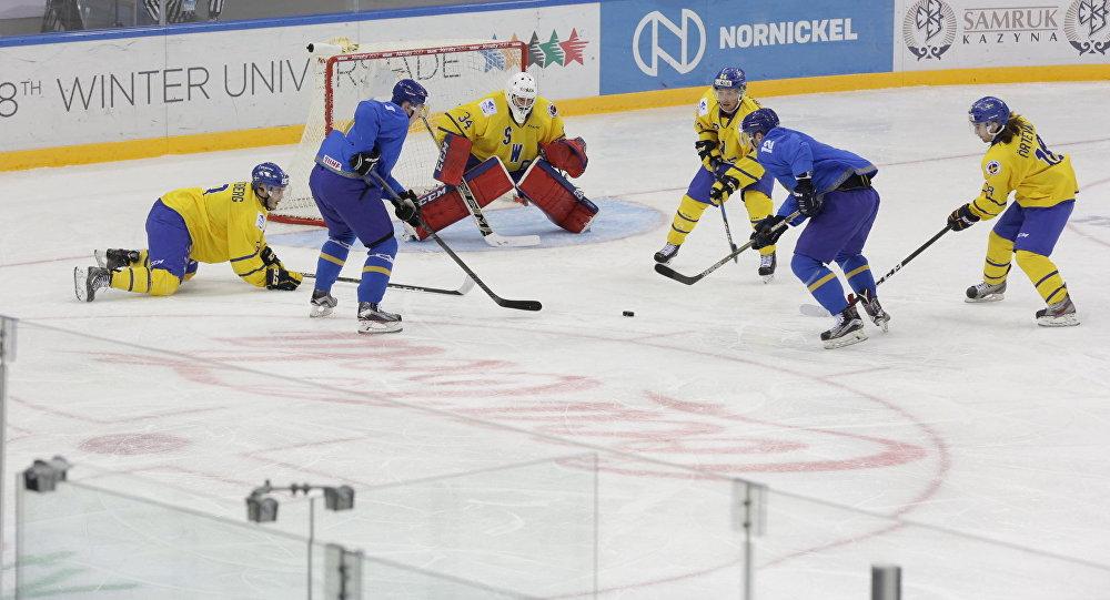 Мачт между мужскими хоккейными сборными Казахстана и Швеции на Универсиаде-2017