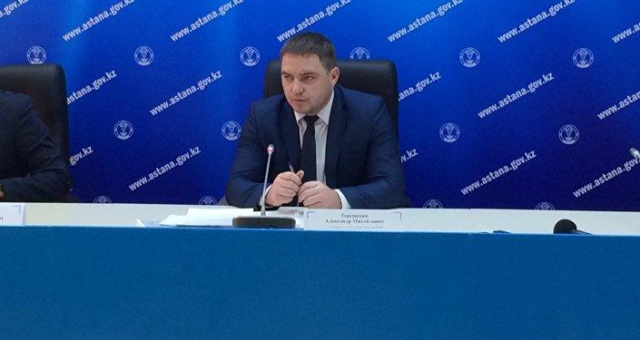 Руководитель отдела управления коммунального хозяйства Астаны Александр Терещенко
