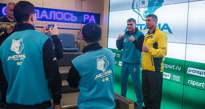Боксеры Astana Arlans в Москве перед боями против российской Patriot Boxing Team